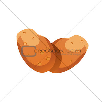 Potato Bright Color Simple Illustration