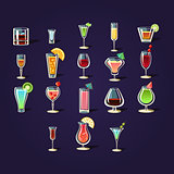 Cocktail Stickers Collection