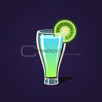 Kiwi Cocktail Illustration