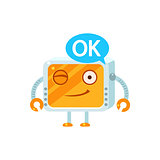 Agreeing Little Robot Character