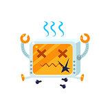 Broken Little Robot Character