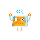 Stressed Little Robot Character