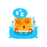 Sleeping Little Robot Character