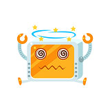 Dizzy Little Robot Character