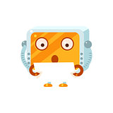 Reading Paper Little Robot Character