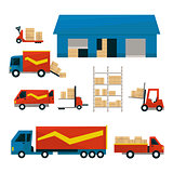 Logistic Related Illustrations Set