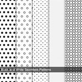Dots simple patterns, seamless.