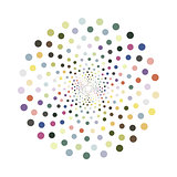 Vector colorful circle.