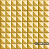 Gold geometric cubes - seamless vector background