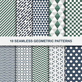 10 Vector geometric seamless patterns