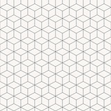 Vector geometric cubes pattern, seamless.
