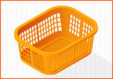 laundry basket vector 3d illustration
