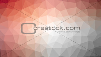 Abstract red vector gradient lowploly of many triangles background for use in design