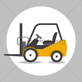 Forklift truck flat icon