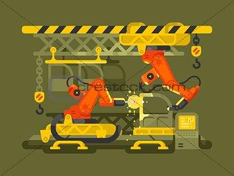 Automatic production using robotics