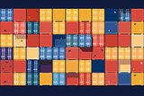 Containers background flat