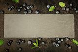 Black board and berries.
