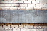 Brick wall with concrete detail