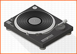 turntable vector 3d illustration