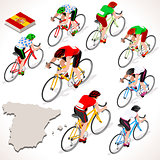 Cyclist 2016 Vuelta Espana Isometric People