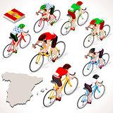 Cyclist 2016 Vuelta Espana Isometric People