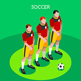 Soccer Barrier 2016 Summer Games 3D Isometric Vector Illustratio