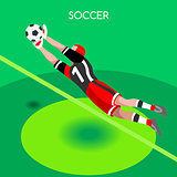 Soccer Block 2016 Summer Games 3D Isometric Vector Illustration