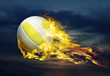 flying fiery ball
