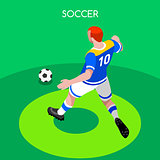 Soccer Striker 2016 Summer Games 3D Isometric Vector Illustratio