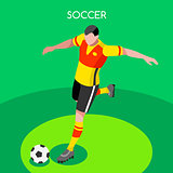Soccer Striker 2016 Summer Games 3D Vector Illustration