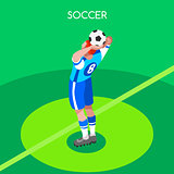 Soccer Throw 2016 Summer Games 3D Isometric Vector Illustration
