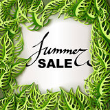 Summer Sale decorative banner.