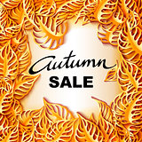 Autumn Sale decorative banner.