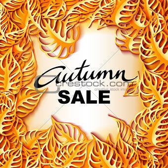Autumn Sale decorative banner.