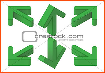 arrows vector isometric 3d illustration