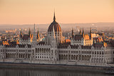 Hungarian Parliament Building at Sunrise