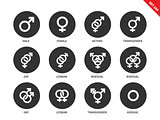 Sexual orientation icons on white background
