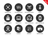 Remote control icons on white backgrond