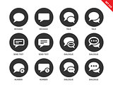 Talking bubble icons on white background