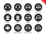 Ear-laps icons on white background