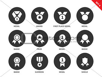 Awards icons on white background