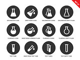 Phial icons on white background