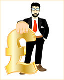 Persons with sign pound sterling