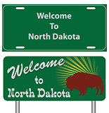 Road signs for North Dakota