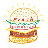 Tasty burger food menu