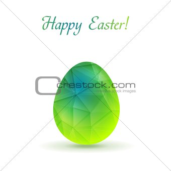 Bright polygonal Easter egg vector background