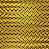 Gold glitter wavy stripes vector background