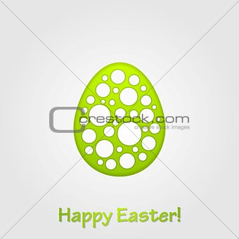 Abstract green grey Easter egg vector background