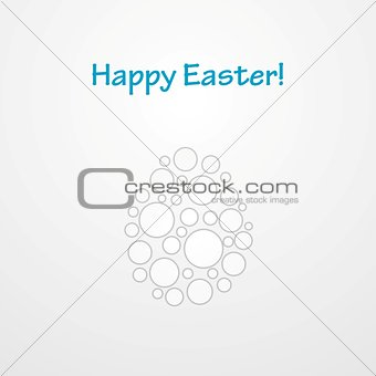 Abstract light grey Easter egg vector background