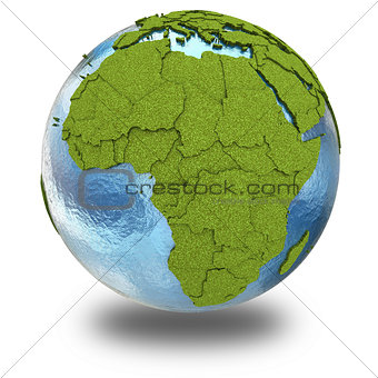 Africa on planet Earth